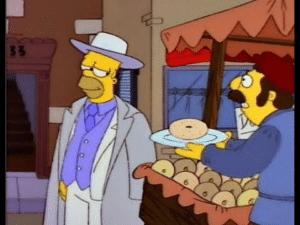 Don Homer Taking Donut Food meme template