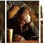 Ned Stark facepalm Game of Thrones meme template