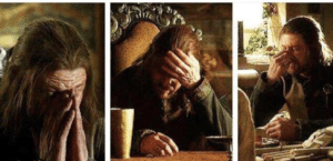 Ned Stark facepalm Game of Thrones meme template