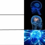 Galaxy Brain Three Panel  meme template blank