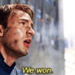 Captain America 'We won'  meme template blank avengers marvel