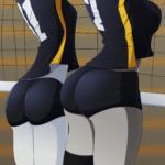Small / big butt (anime)  meme template blank