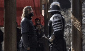 The Hound Staring Down the Mountain Game of Thrones meme template