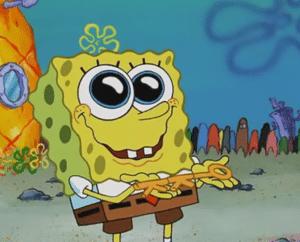 Spongebob Crying Holding Key to Krusty Krab Old meme template