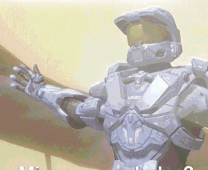 Halo Spartan Open Arms Surprised meme template