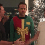 Laughing at Ryan Reynolds Sweater  meme template blank