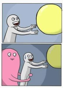 Reaching towards yellow ball comic Reaching meme template