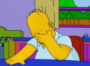 Homer Crying Sad meme template