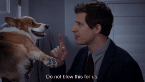 Jake 'Do not blow this for us' Brooklyn 99 meme template
