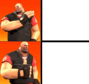 Heavy Drake Meme Gaming meme template