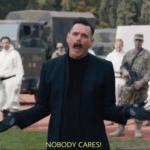 Jim Carey Robotnic 'Nobody Cares'  meme template blank sonic mustache