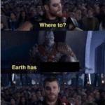 Thor 'Where to' 'Earth'  meme template blank marvel avengers
