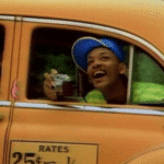 Will Smith Taxi Black Twitter meme template blank