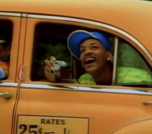 Will Smith Taxi TV meme template