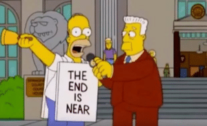 Homer the end is near Opinion meme template