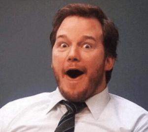 Chris Pratt Mouth Open Surprised meme template