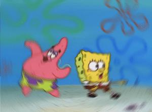 Patrick and Spongebob Dancing Dancing meme template