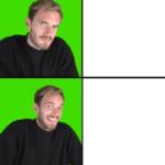 Pewdiepie Drake Meme  meme template blank YouTube, Drake Meme