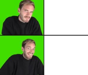 Pewdiepie Drake Meme YouTube meme template