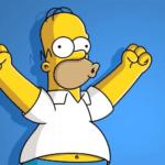 Homer Celebrating 'Woohoo' Simpsons meme template blank celebrate, happy, victory