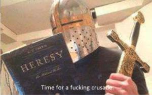 Crusader Reading Heresy Book Crusade meme template