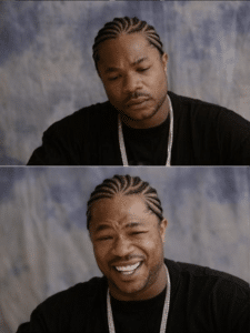Xzibit Sad then Happy Music meme template