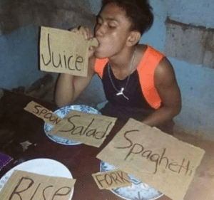 Eating Cardboard Food meme template