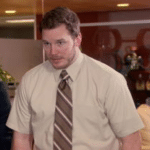 At this point I'm afraid to ask (blank, no text)  meme template blank Chris Pratt, Andy Dwyer, Parks and Rec