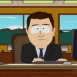 South Park 'Aaand it's gone'  meme template blank South Park