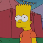 Bart Crying Simpsons meme template