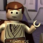 LEGO Obi Wan Shrugging Prequel meme template blank Star Wars