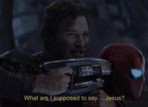 What am I supposed to say Jesus Avengers meme template