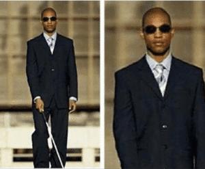 Blind Black Man Black Twitter meme template