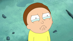 Morty Crying Rick and Morty meme template