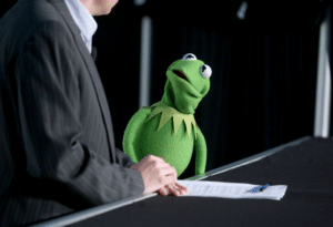 Kermit Shocked Frog meme template