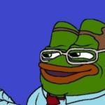 Professor / Scientist / Smart Pepe holding ruler  meme template blank frog