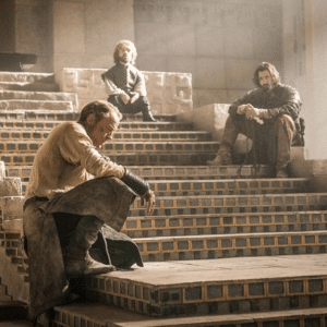 Waiting on Stepstags=Game of Thrones, Tyrion Lannister, Daario, Jorah Mormont Game of Thrones meme template