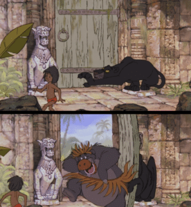 Jungle Book Open Door Subterfuge meme template