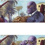 Thanos Sunglasses  meme template blank marvel avengers glasses