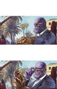 Thanos Sunglasses  Cool meme template