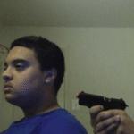 Trust no one, not even yourself (blank)  meme template blank shooting gun