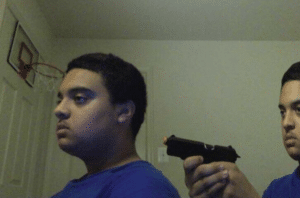 Trust no one, not even yourself (blank) Gun meme template