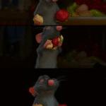 Ratatouille Remy combining food meme template blank disney animated combination combine