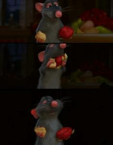 Ratatouille Remy combining food Food meme template