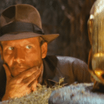 Indiana Jones Looking at Gold Idol  meme template blank thinking