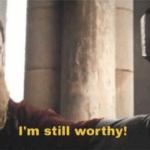 Thor I'm still worthy  meme template blank Marvel Avengers Mjolnir