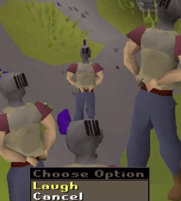 RuneScape Laugh Emote  meme template blank