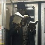 Black Guy Reading Two Books Black Twitter meme template blank
