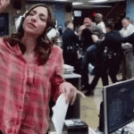 Headphones on While People Fight in the Background  meme template blank Brooklyn 99, Music, Ignoring, Sneak