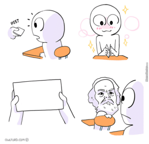Sending someone a note (Owlturd comics, blank) Opinion meme template